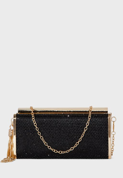 Diamante Box Clutch Bag