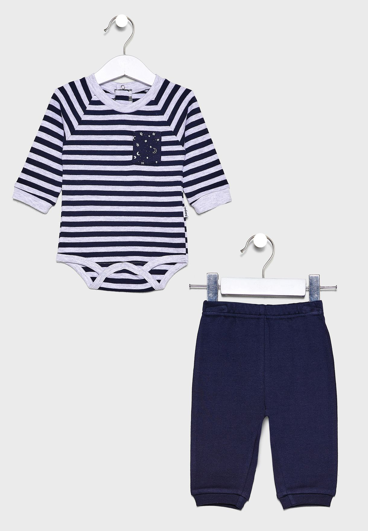 Infant Stripped Sweatshirt + Sweatpants Set