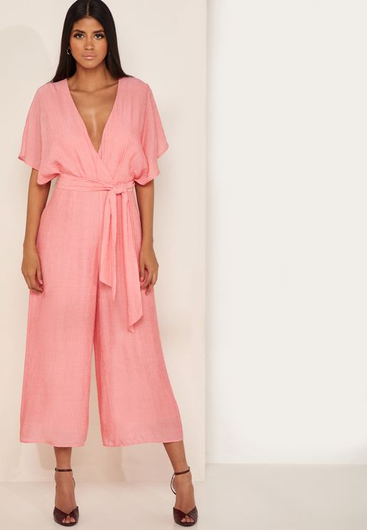 Faithful Belted Wrap Jumpsuit