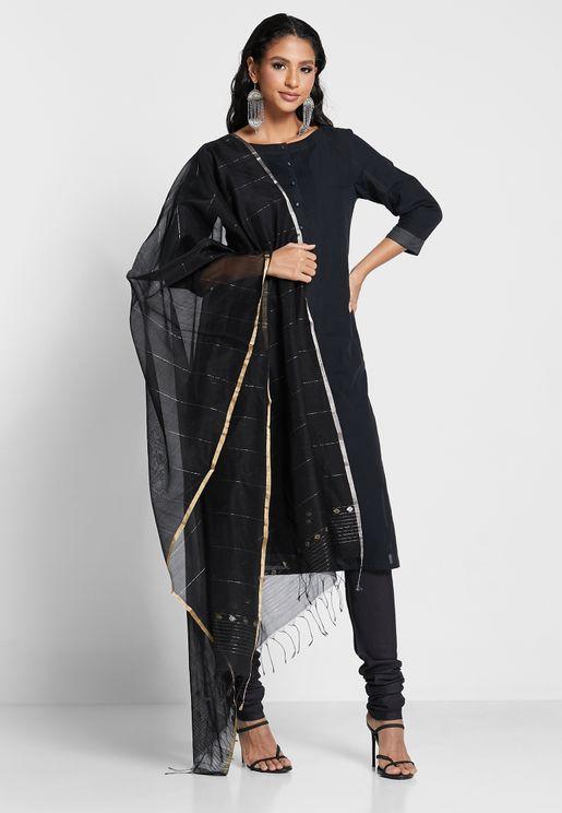 Silk Woven Chanderi Dupatta