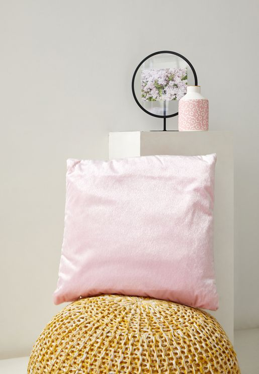 Pink Faux Pony Fur Cushion With Insert 45x45 cm