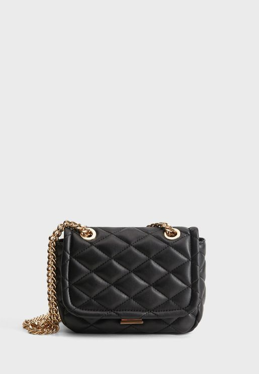 Gaby Quilted Chain Crossbody