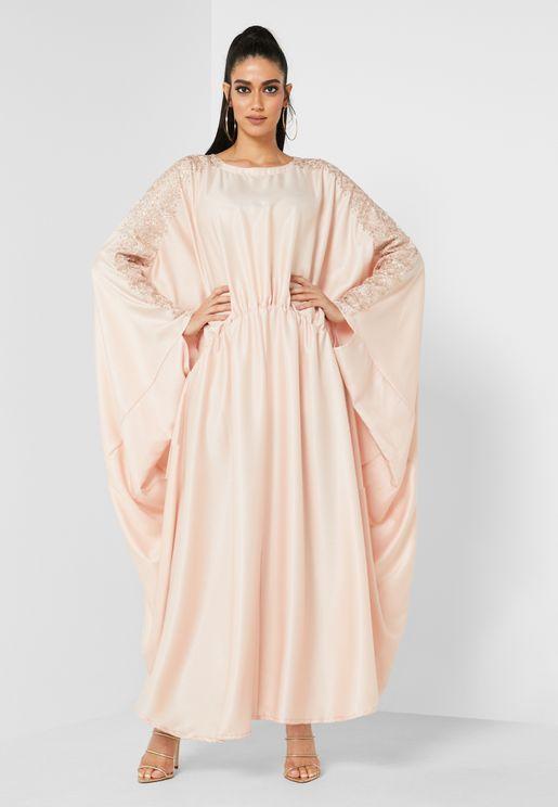 Embellished Sleeve Kaftan