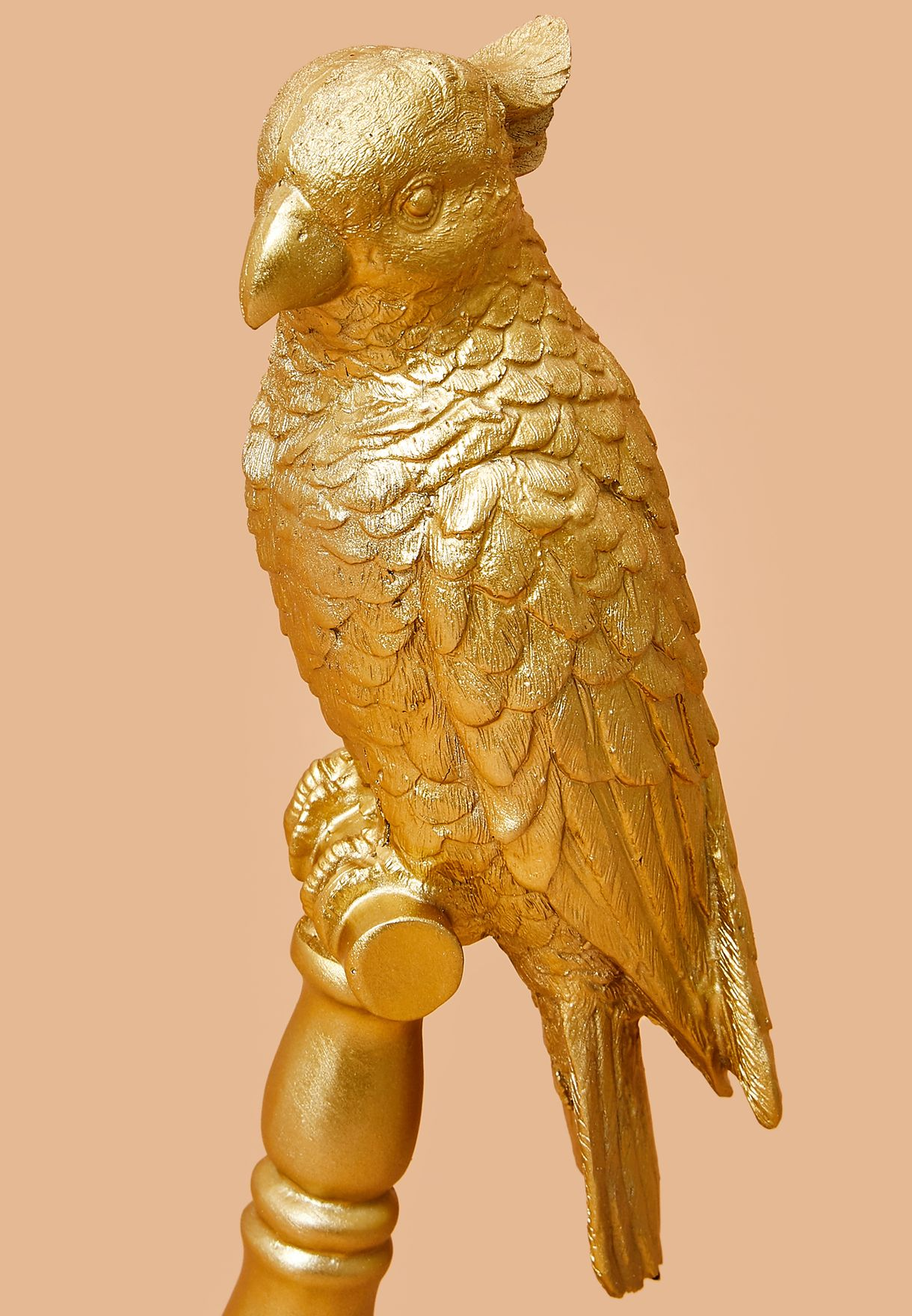 تمثال ذهبي لطائرالببغاء