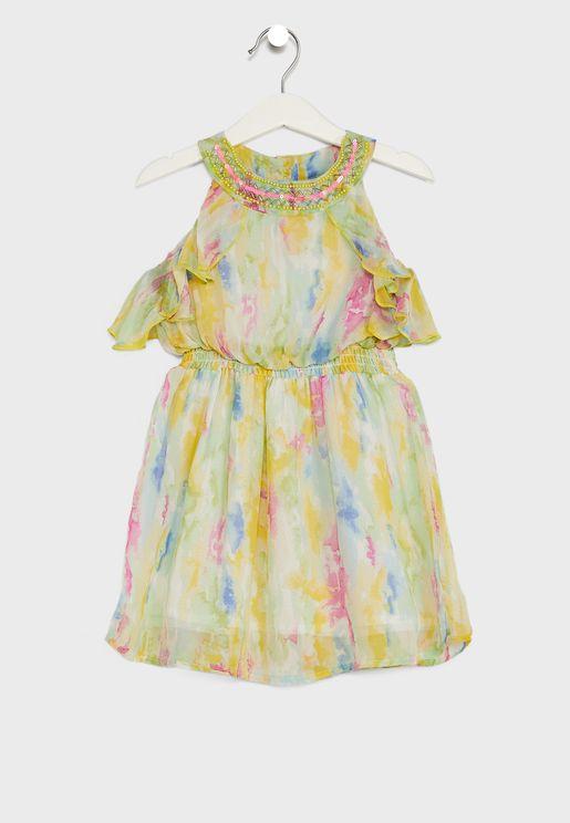 فستان بطبعات (تاي داي)