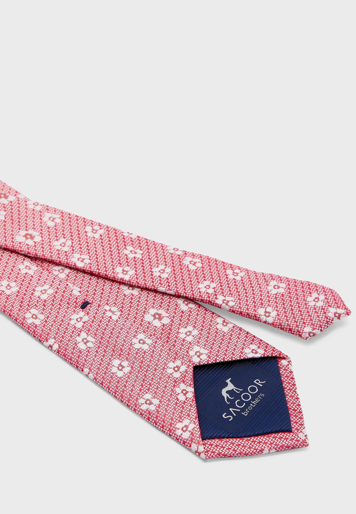 ربطة عنق بطباعة زهور
