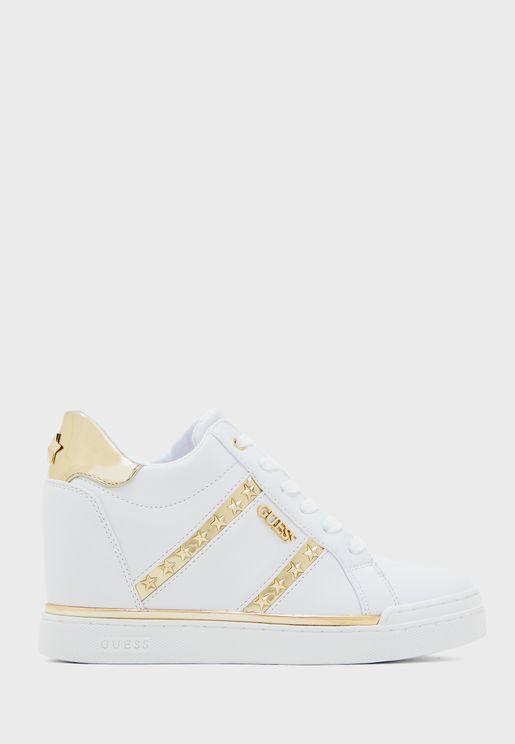 Fayne  High Top Sneaker - White