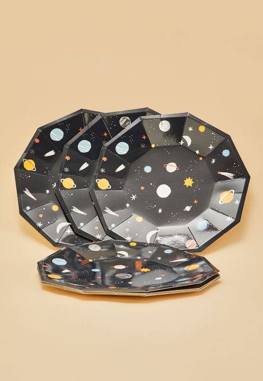 Space Party Plates 8 Pack