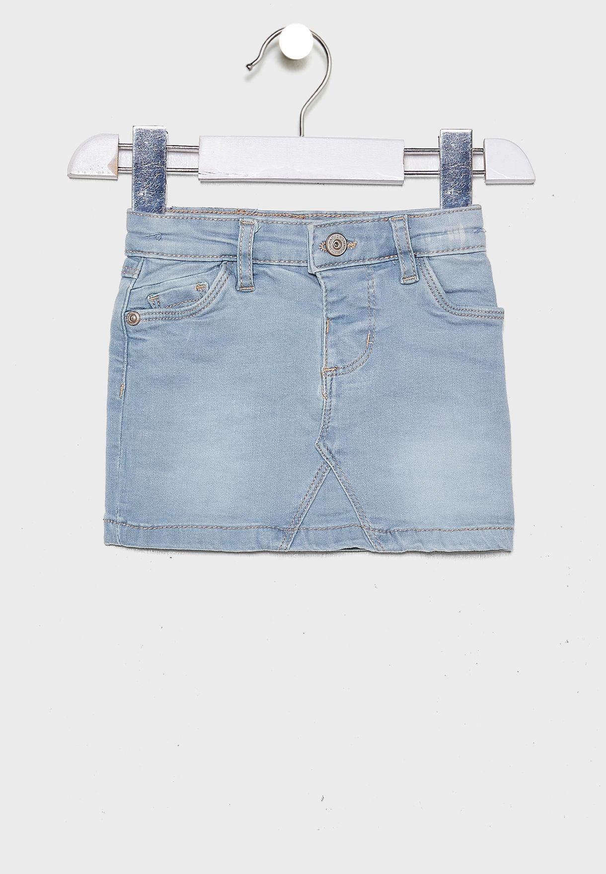 Infant Light Wash Denim Skirt
