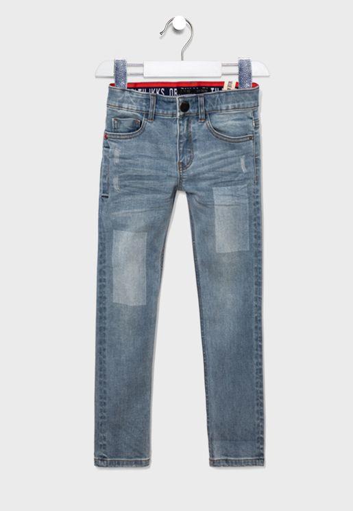 Kids Adjustable Waistband Jeans