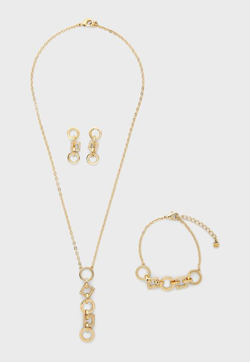 Pendant Necklace+Bracelet Set