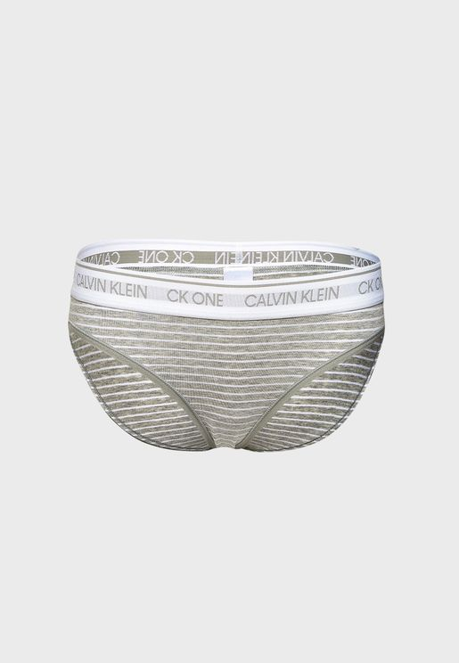 Logo Band Striped Brief