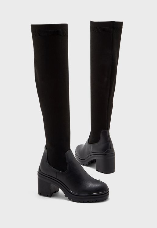 Maryan Knee Boot - Black