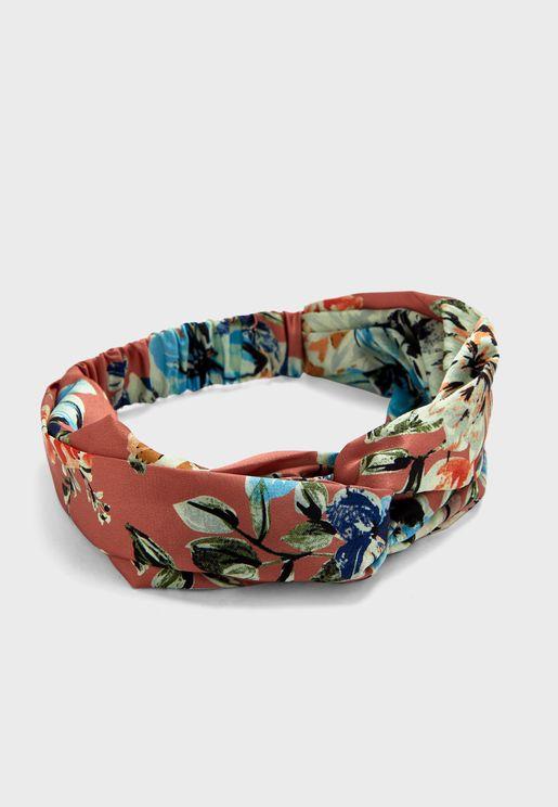 Floral Wide Turban Headband