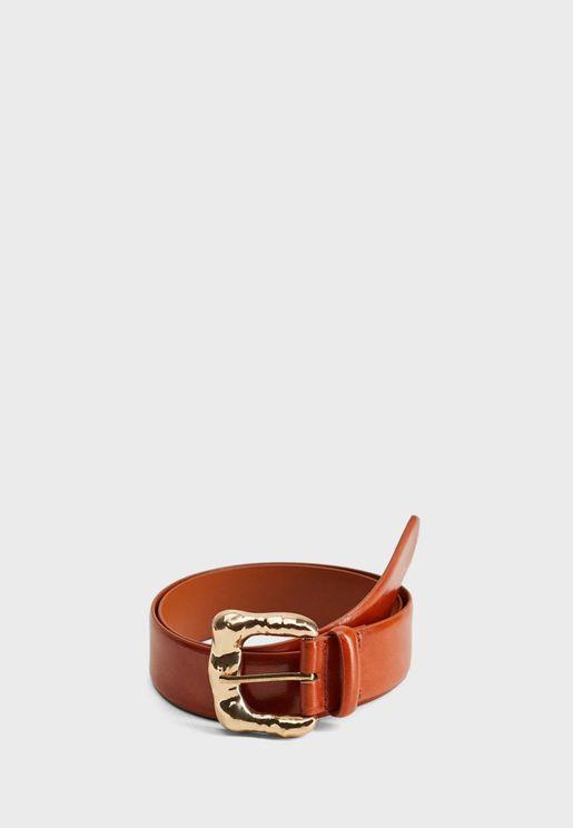 Ana Embossed Buckle Belt