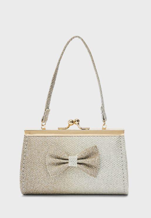 Kids Bow Detail Handbag
