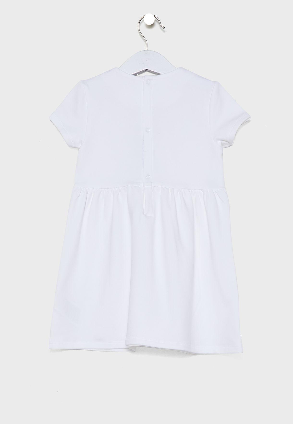 فستان بياقة دائرية للبيبي