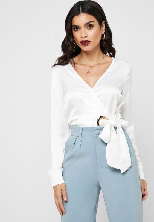 O-Ring Detail Wrap Top