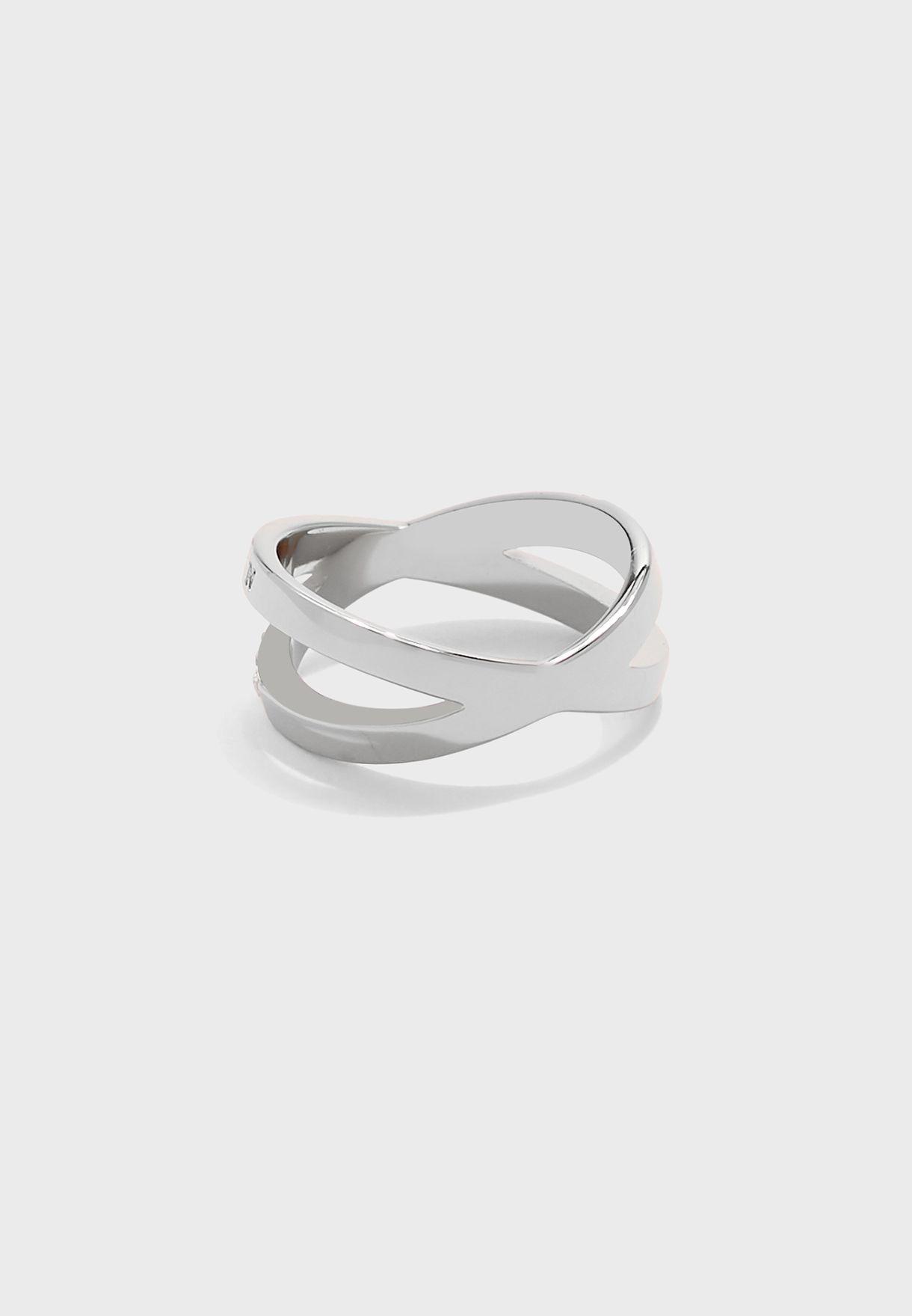 Bejewelled Interlink Ring