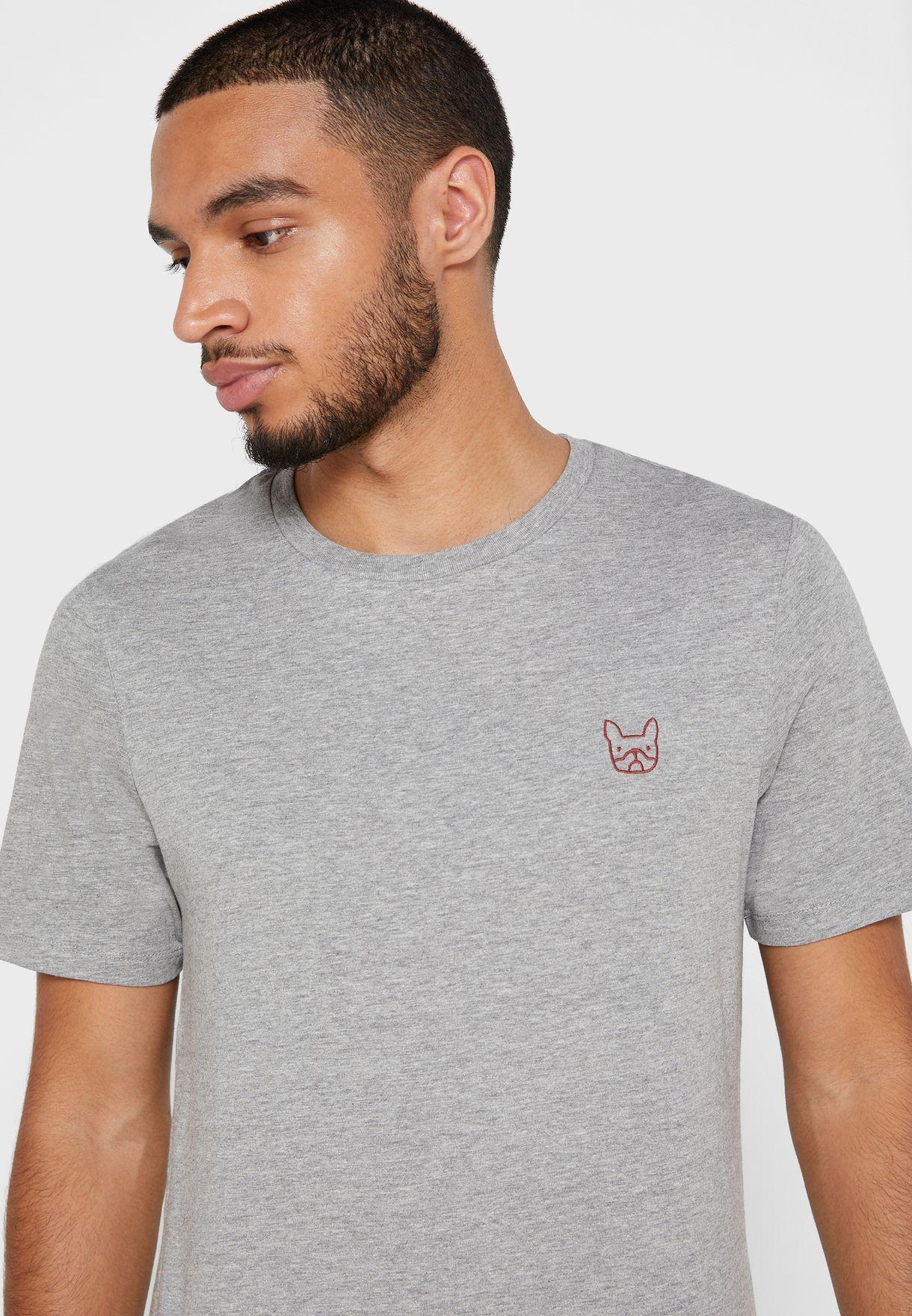 Denim Logo Slim Fit Crew Neck T-Shirt