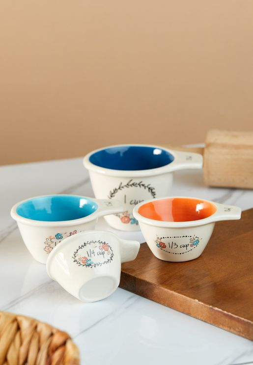 Set of 4 Pretty Things Measuring Cups