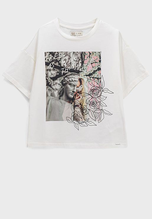 Youth Flowers Graphic T-Shirt