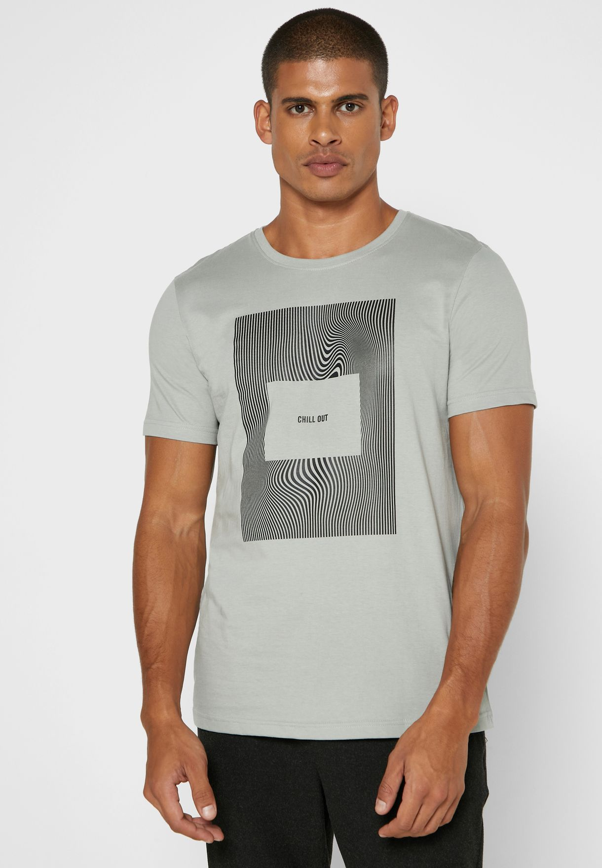 Chill Out Print T Shirt