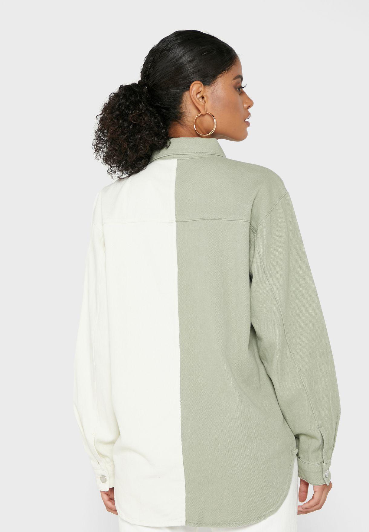 Colourblock Button Down Shirt