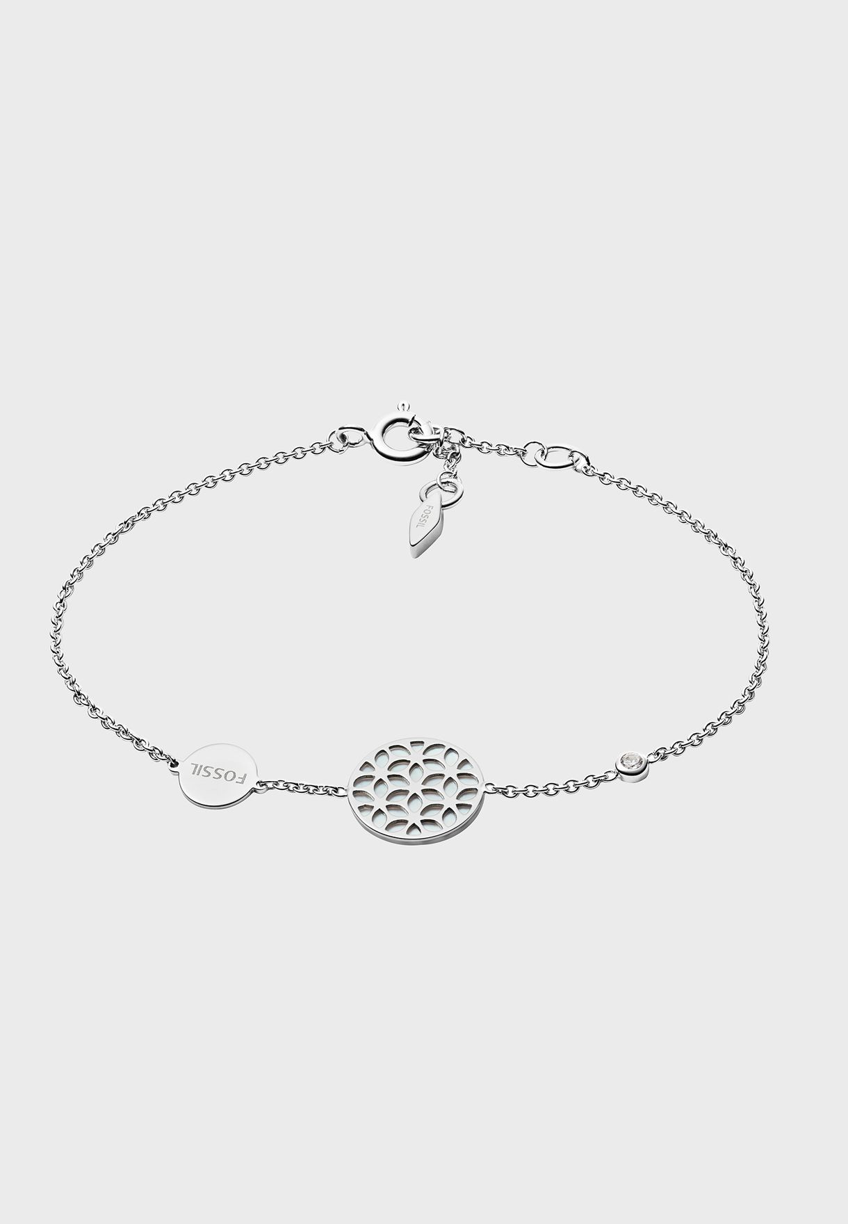 Chain Link Silver Coin Bracelet