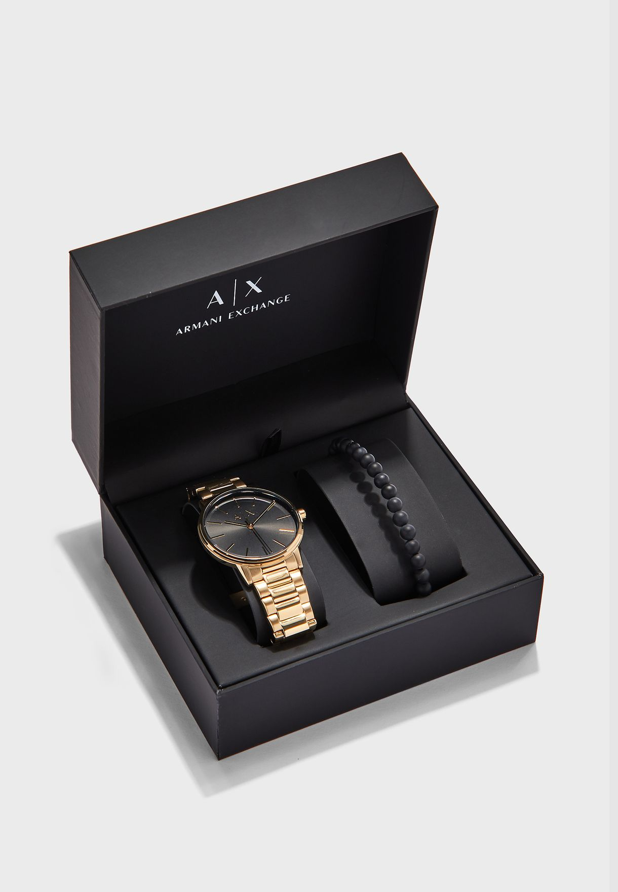 AX7119 Analog Watch + Bracelet Gift Set