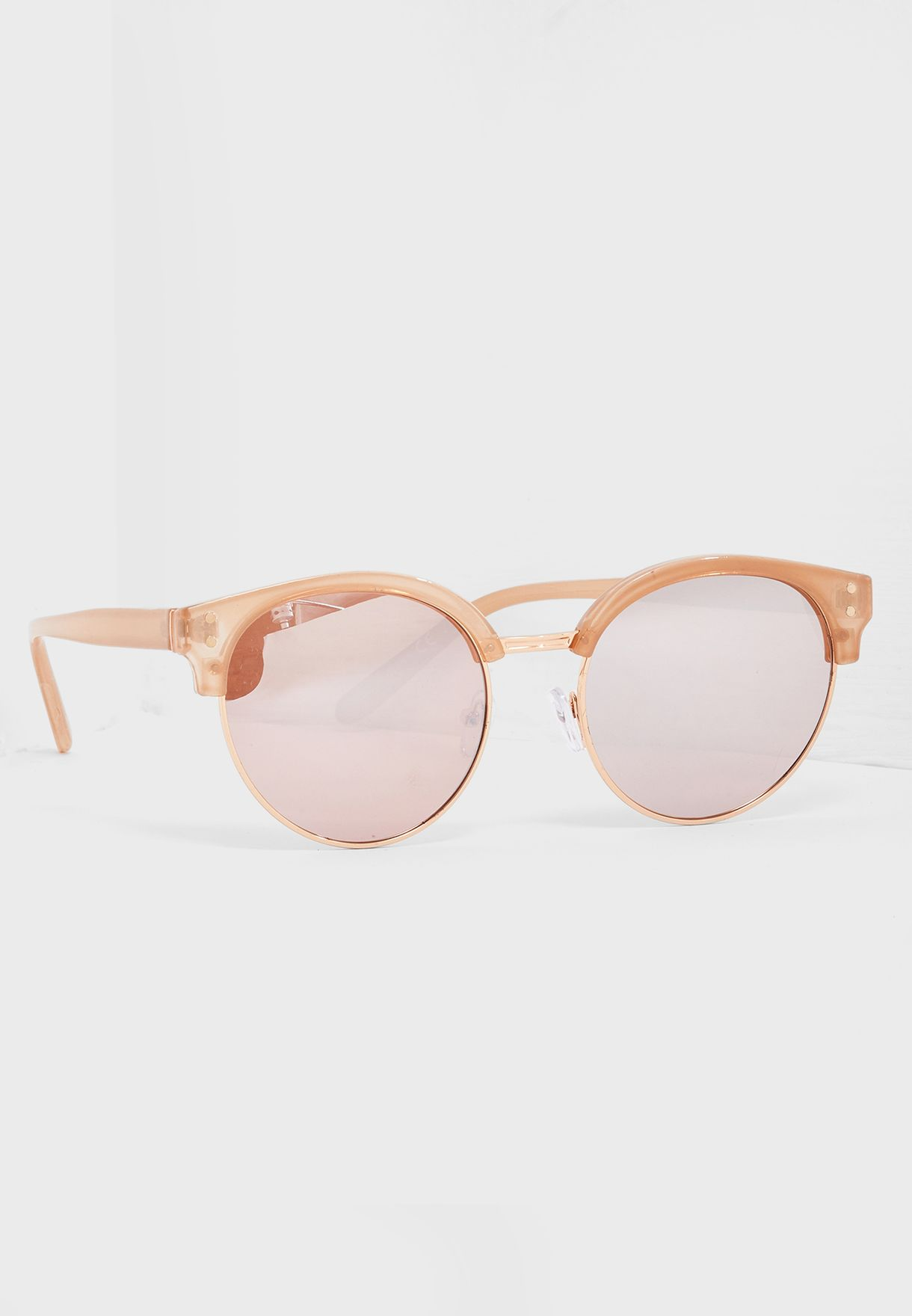 56749116bf Shop Call It Spring beige Drubel Round Frame Sunglass DRUBEL101 for ...