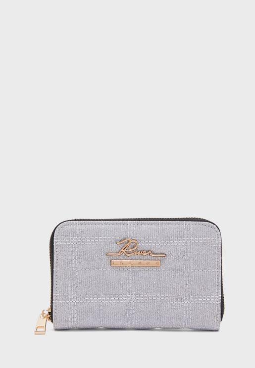 River Quilted Zip Detail Purse