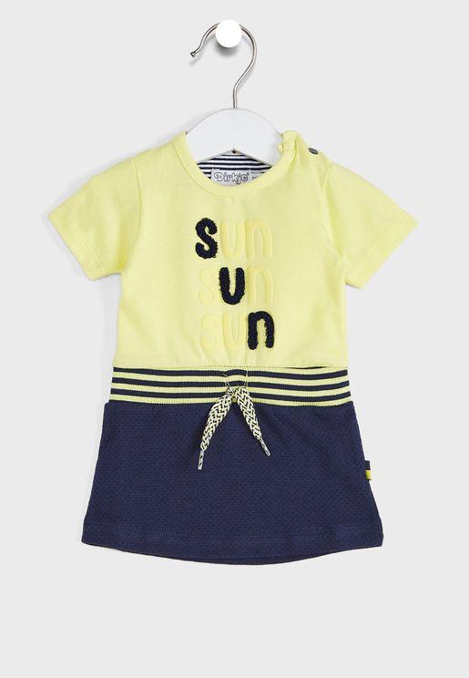 Kids Slogan T-Shirt + Shorts Set