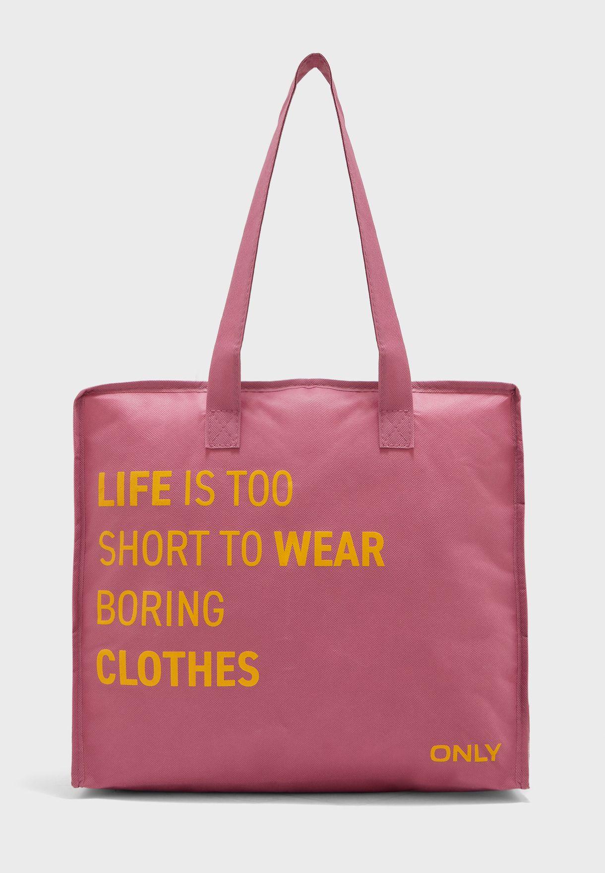 Slogan Print Shopper
