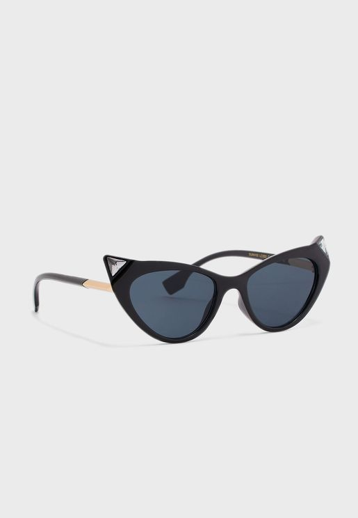 Diamante Detail Cateye Sunglasses