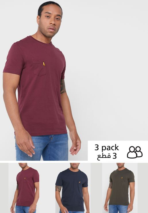 3-Pack Essential Crew Neck T- Shirt