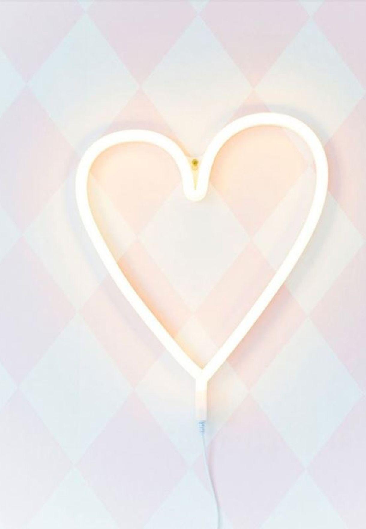 ضوء نيون شكل قلب