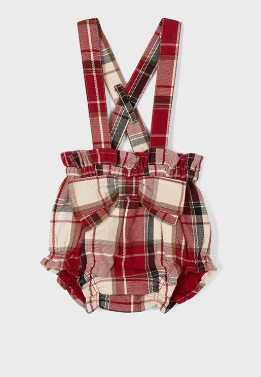 Infant Checked Dungaree