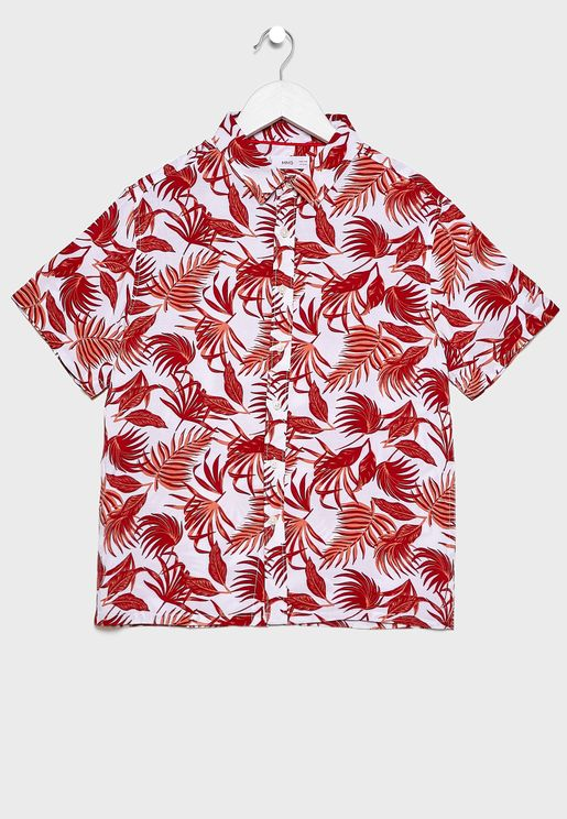 Kids Leaf Print Shirt