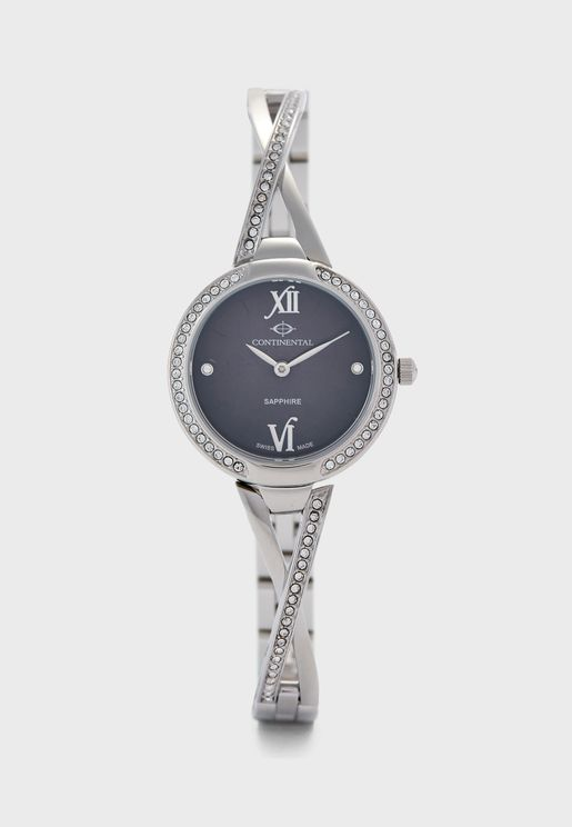 Studded Steel Strap Analog Watch