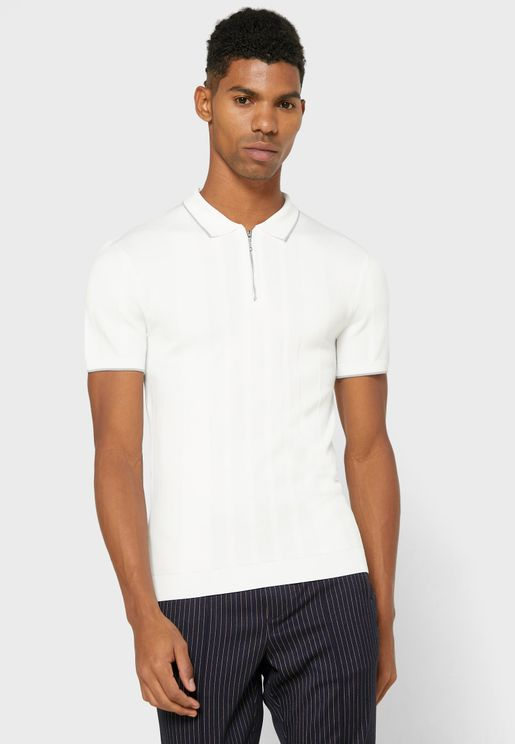 Tipped Knitted Polo