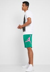 c9fa77fc8e0b Shop Nike green Jordan Jumpman Fleece Shorts AQ3115-340 for Men in Saudi -  72704AT49IQP
