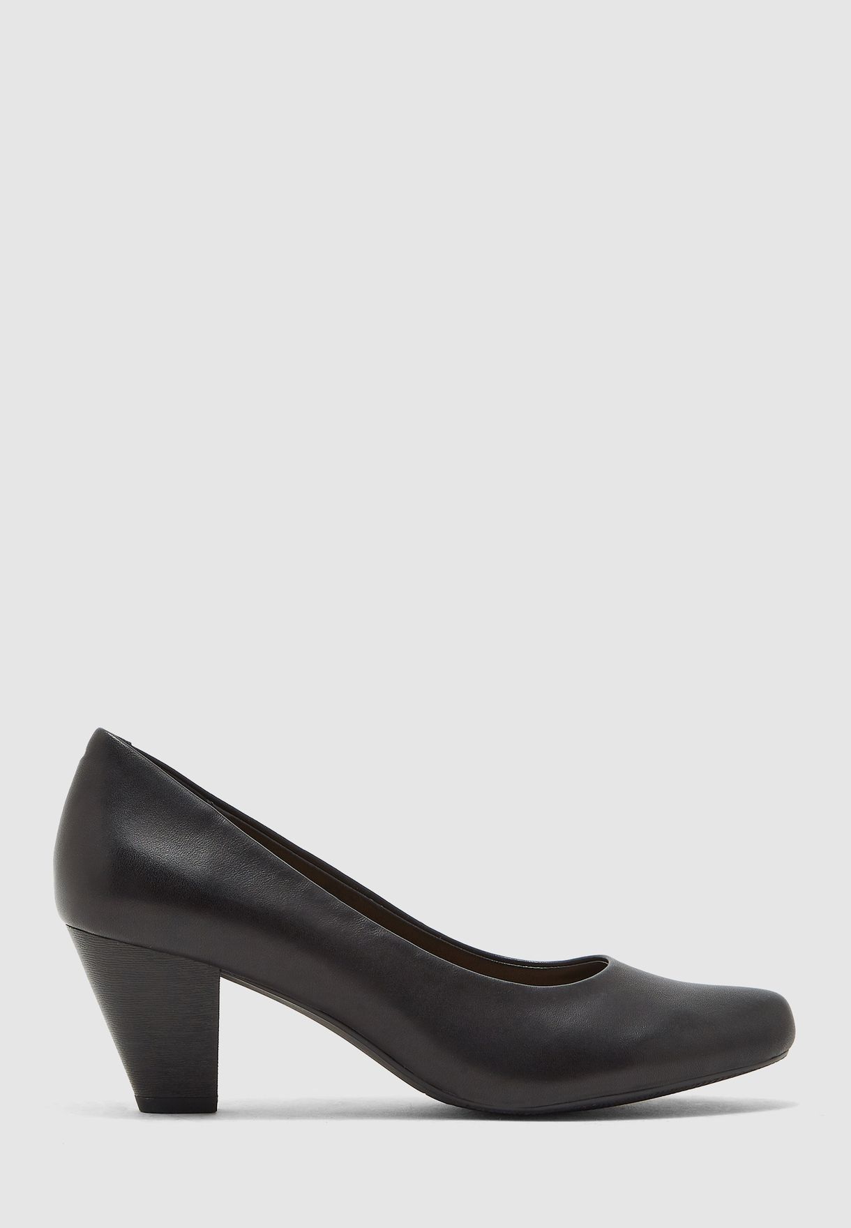 Casual Block Heel Pump