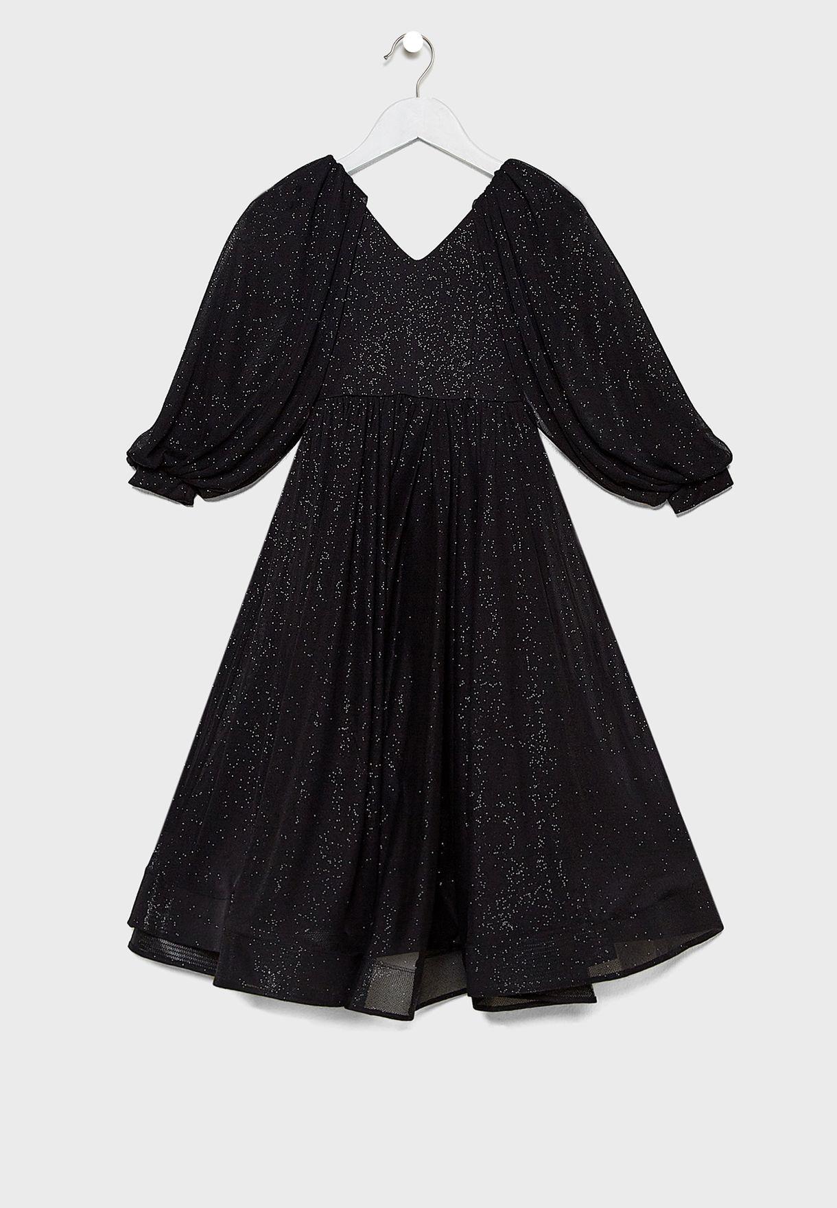 فستان بطبعات للاطفال