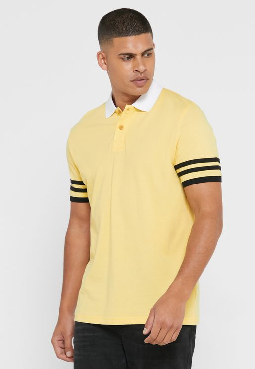 Arm Striped Polo Shirt