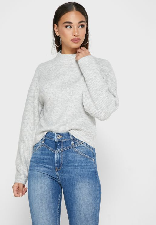 Ribbed Knitted Sweater