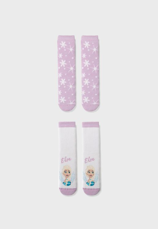 Kids 2 Pack Crew Socks