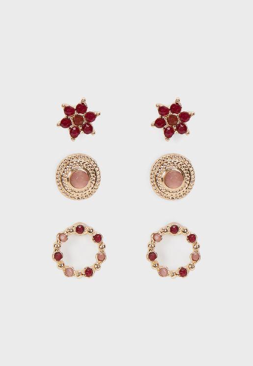 Blooming Earrings Set