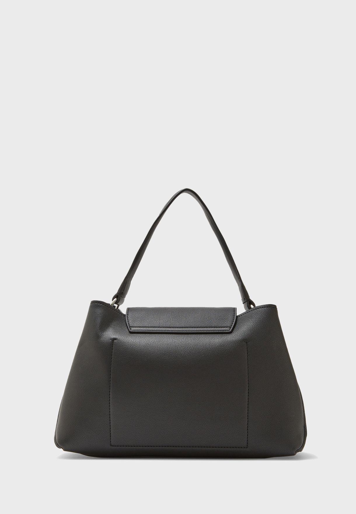 Lock Shoulder Top Handle Handbag