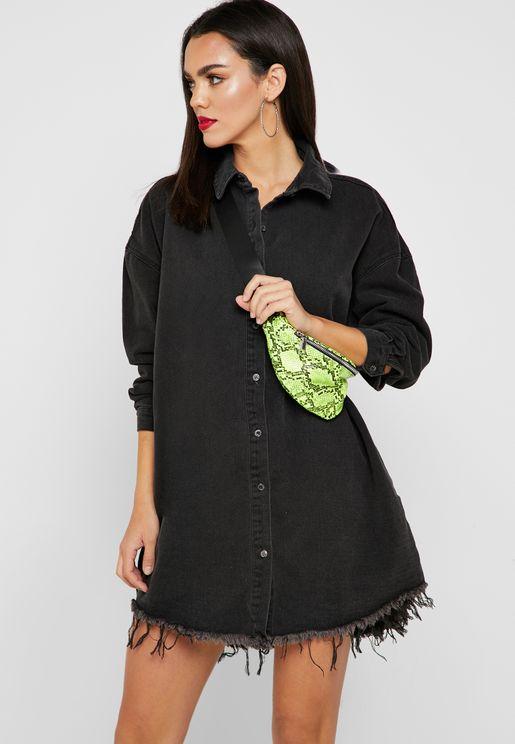 فستان فضفاض بنمط قميص
